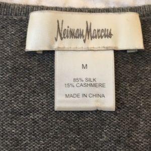 Neiman Marcus Sweaters - Neiman marcus cashmere-silk grey tank sweater M